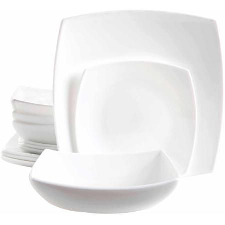 Gibson Home 12-Piece Addison Square Dinnerware Set White  sc 1 st  Pinterest & Gibson Home 12-Piece Addison Square Dinnerware Set White | dining ...