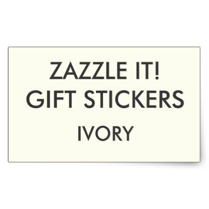 Custom ivory rectangle gift stickers template create your own gifts personalize cyo custom