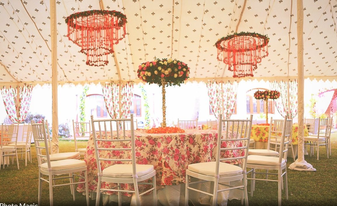 Rajasthani wedding stage decoration  Pin by Isha Singh on Wedding Ideas  Pinterest  Canopy and Weddings