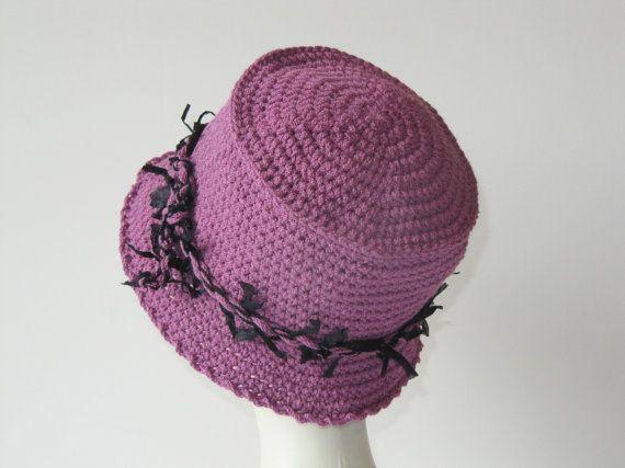 Damask crochet hatcloche hatWomens damask and by SEVILSBAZAAR, $27.00
