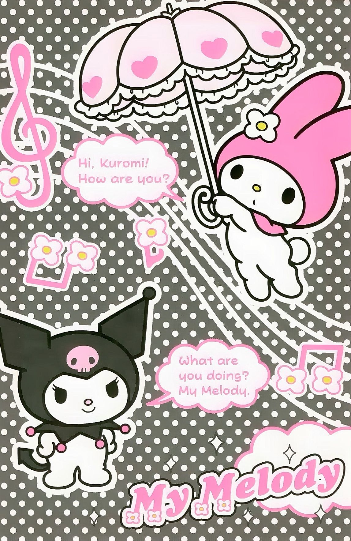 Kuromi | Sanrio wallpaper, Hello kitty, Cute images