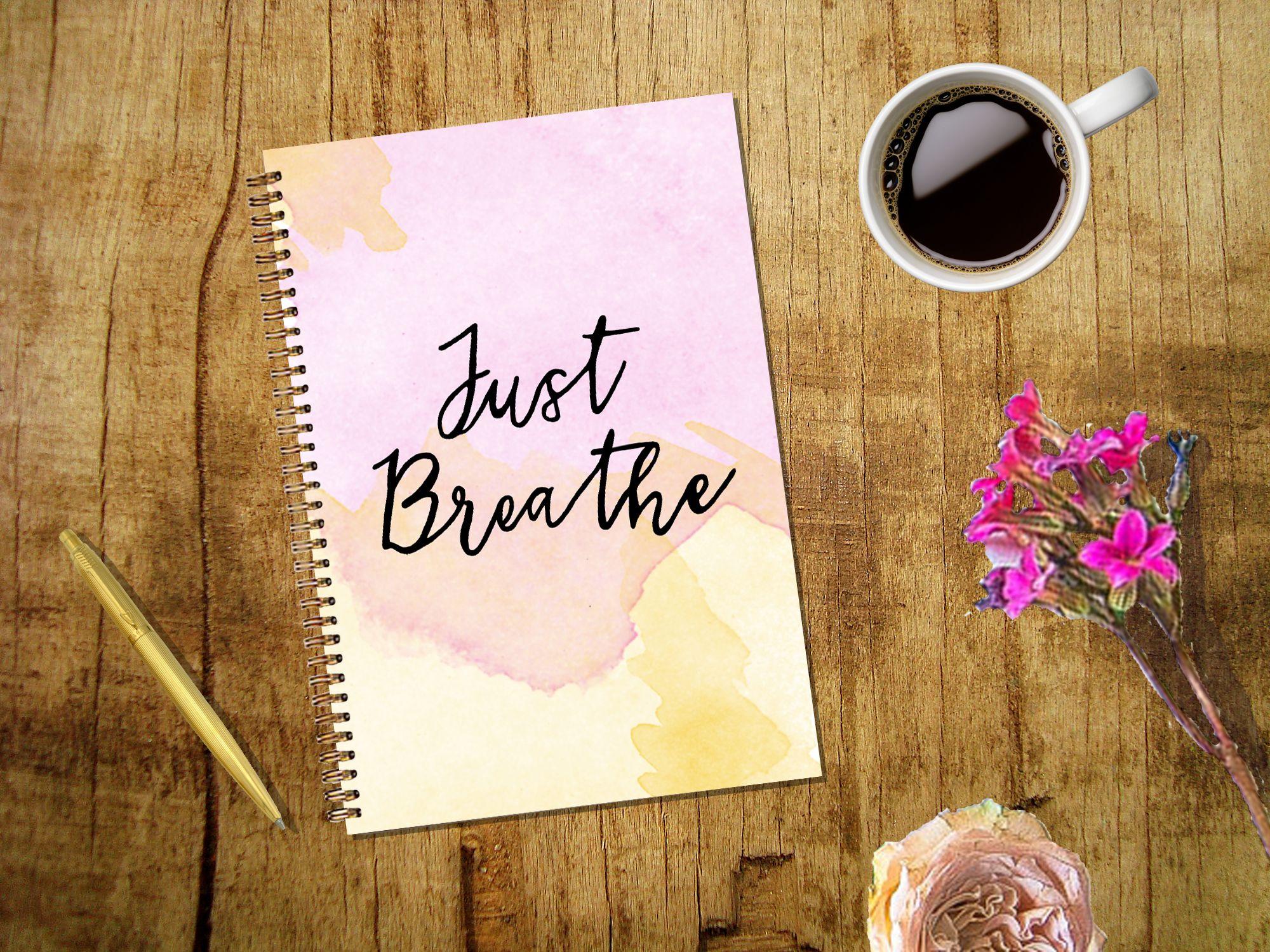 Just Breathe wire bound notebook
