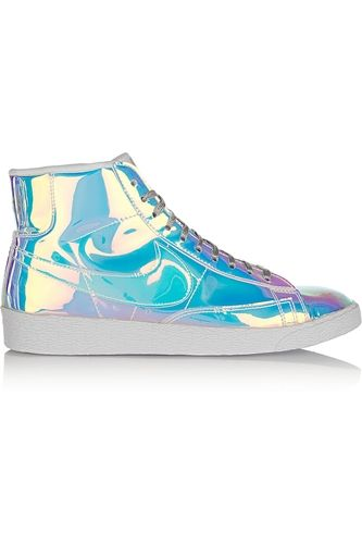 Blazer Mid Iridescent Faux Leather High Top Sneakers
