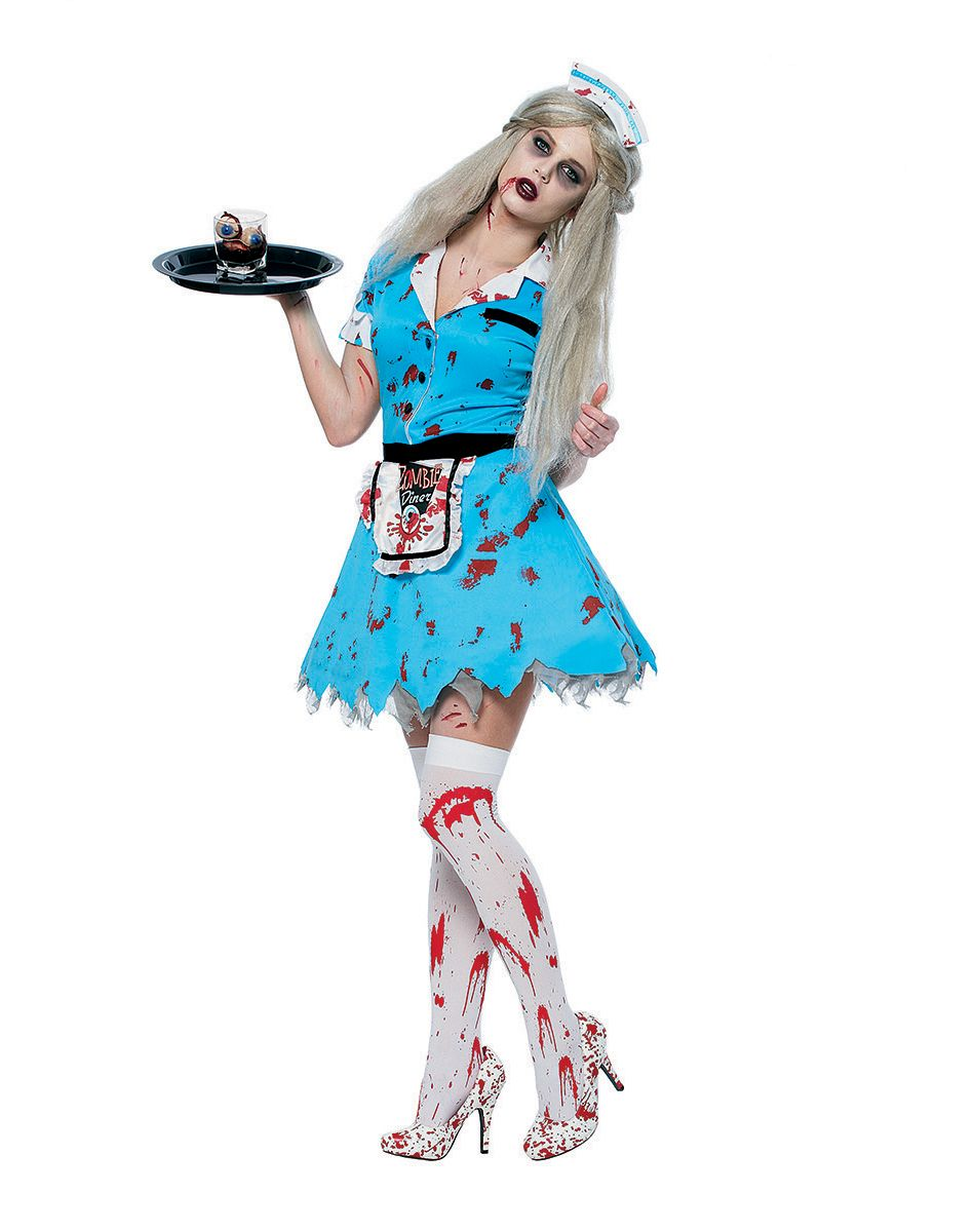 Groß Bloody Waitress Adult Womens Costume U2013 Spirit Halloween