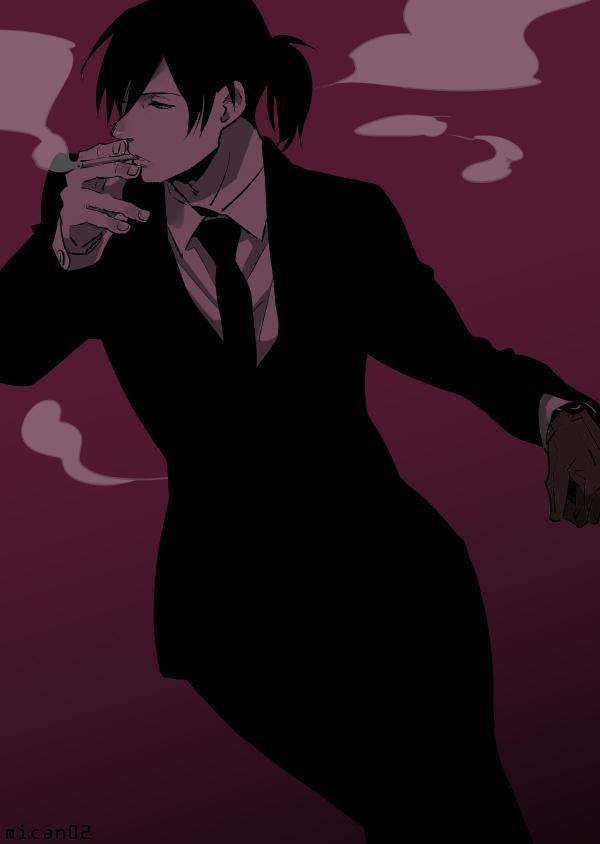 ぽにちかなら煙草も似合うな…と思いつつ描いたことがなかったので本日のわんどろ「タバコ」に乗っからせていただきました でもおいしいとは思わないと思う 微妙にイヤそうに吸ってほしい #サイコパス版深夜のお絵描き一本60分勝負