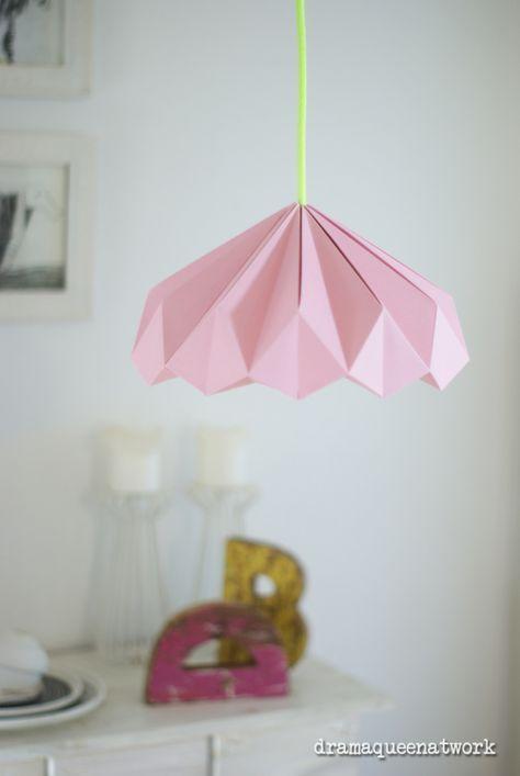 Origami Deko diy paper origami lshade lenschirm plissee papier deko