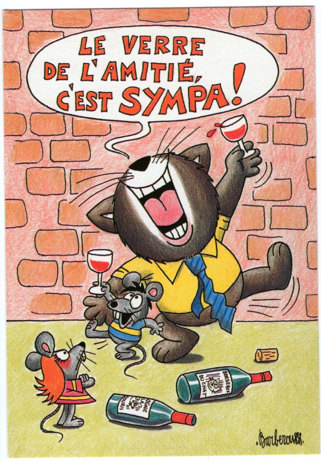 Cp 07 Barberousse Dessin Vie De Chat Souris Gag Humour Moquerie Tendresse Felin…