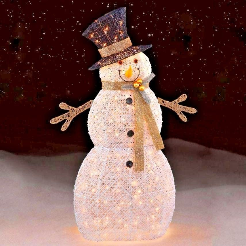 White Snowman 150ct 48 Outdoor Yard Decor Christmas Holiday Lights