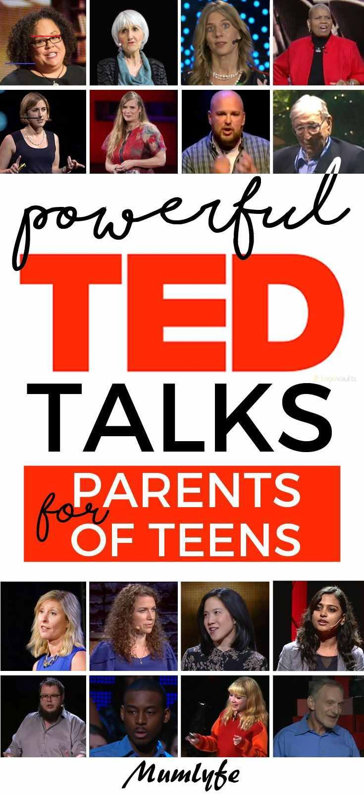 16 powerful TED talks for parenting teens | Mumlyfe TED Talks for parenting teens #tedtalks #parentingteens #parenting<br> Being a parent of teens is definitely not for the weak. These TED Talks for parenting teens all offer food for deep thought to guide and inspire us.