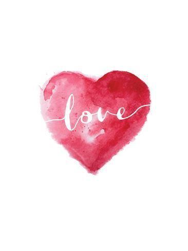 Art Print: Love Heart Cursive by Brett Wilson : 32x24in