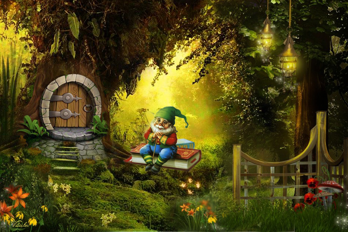 Similiar enchanted forest wallpaper keywords forest for Fairy garden wall mural