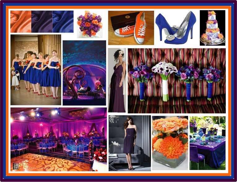 Wedding Colors Royal Blue Orange And Purple That Room Is A Bit Much