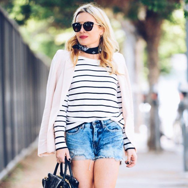 Can't Stop Won't Stop: Denim & Stripes Forever  @max.aria  // @liketoknow.it www.liketk.it/2mbYk #liketkit // #cutoffs #stripes #itsbanana #ad #personalstyle #streetstyle #vsco by huntercollector