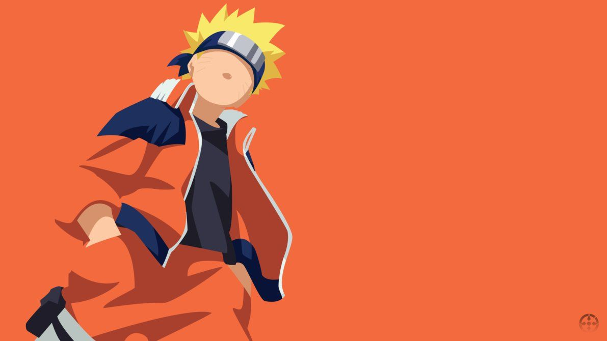 Naruto Uzumaki [ KID ] Minimalist Design Wallpap by