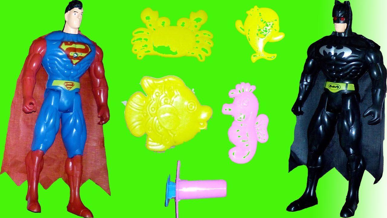 سوبر مان و باتمان العاب صلصل بنات عالم سبايدرمان كرتون الحقيقي Youtube