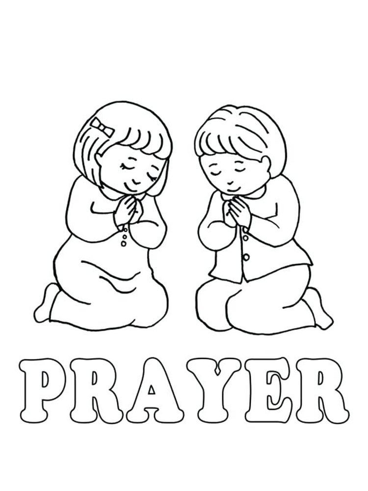 Prayer Card Preschool coloring pages, Coloring pages