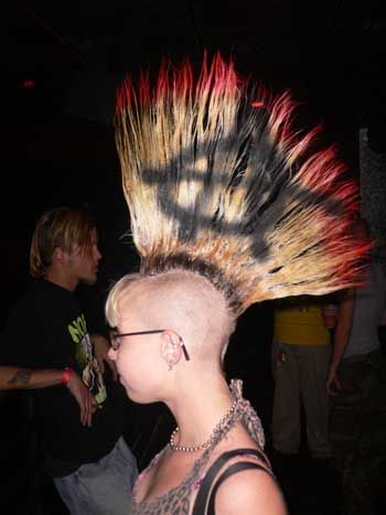 Having a strip of spiked hair opinion