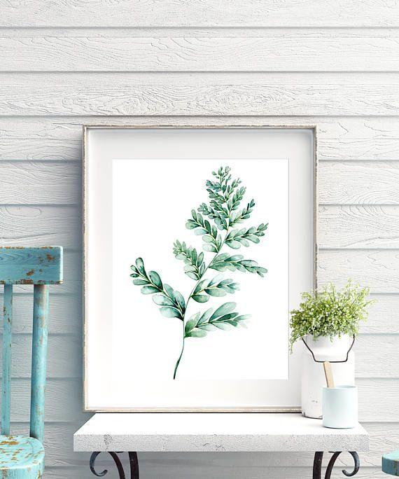 Botanical Print Sets Of Leaf Art Watercolor Kitchen Art Set