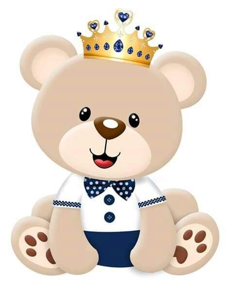 Urso Meigo Coroa Decoracao Urso Principe Urso Com Coroa