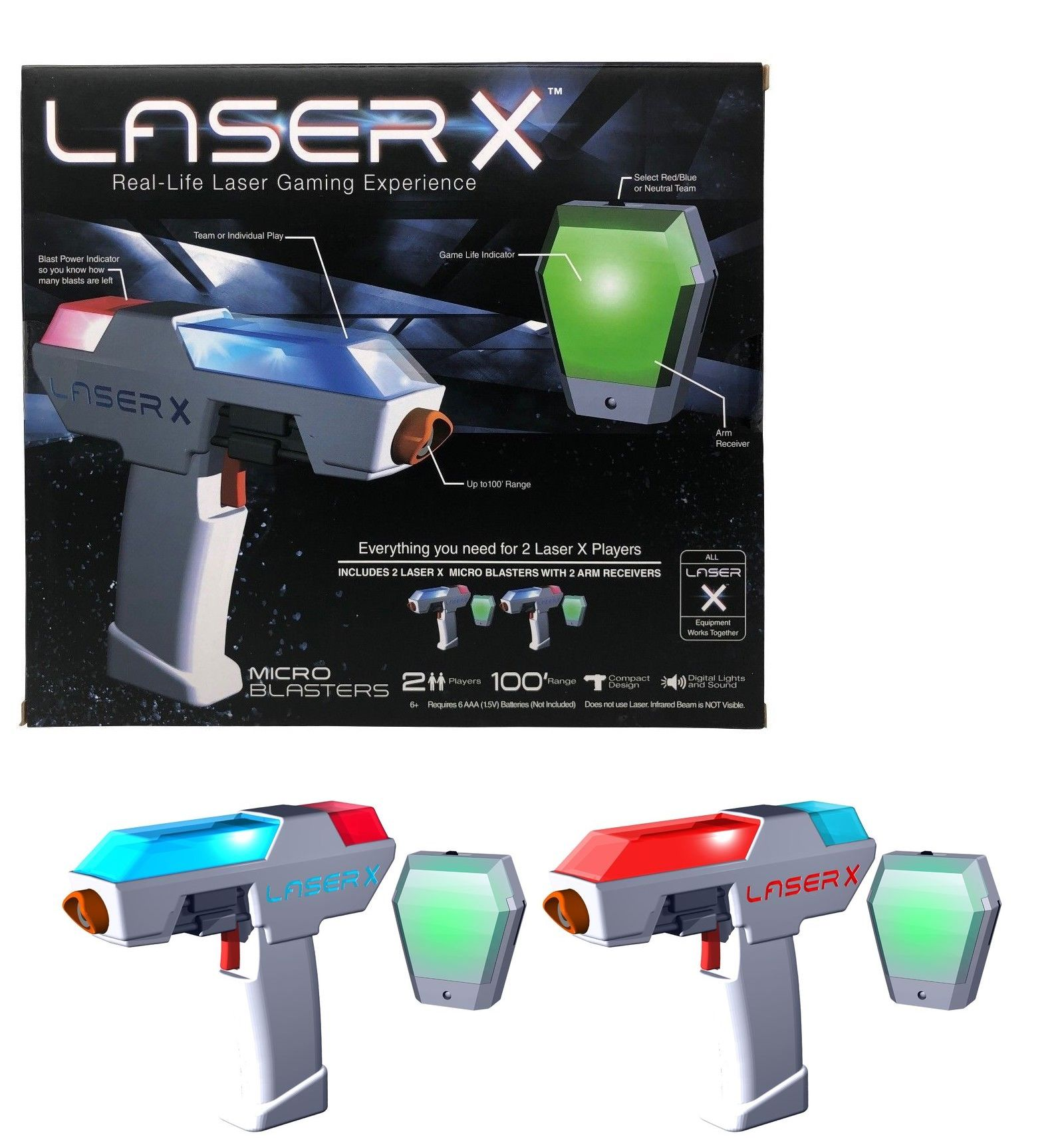 Laser Tag 168245 New Laser X Real Life Laser Gaming Experience Micro Blasters Set Of 2 Players Buy It Now Only 23 99 On Ebay L Real Life Laser Tag Life