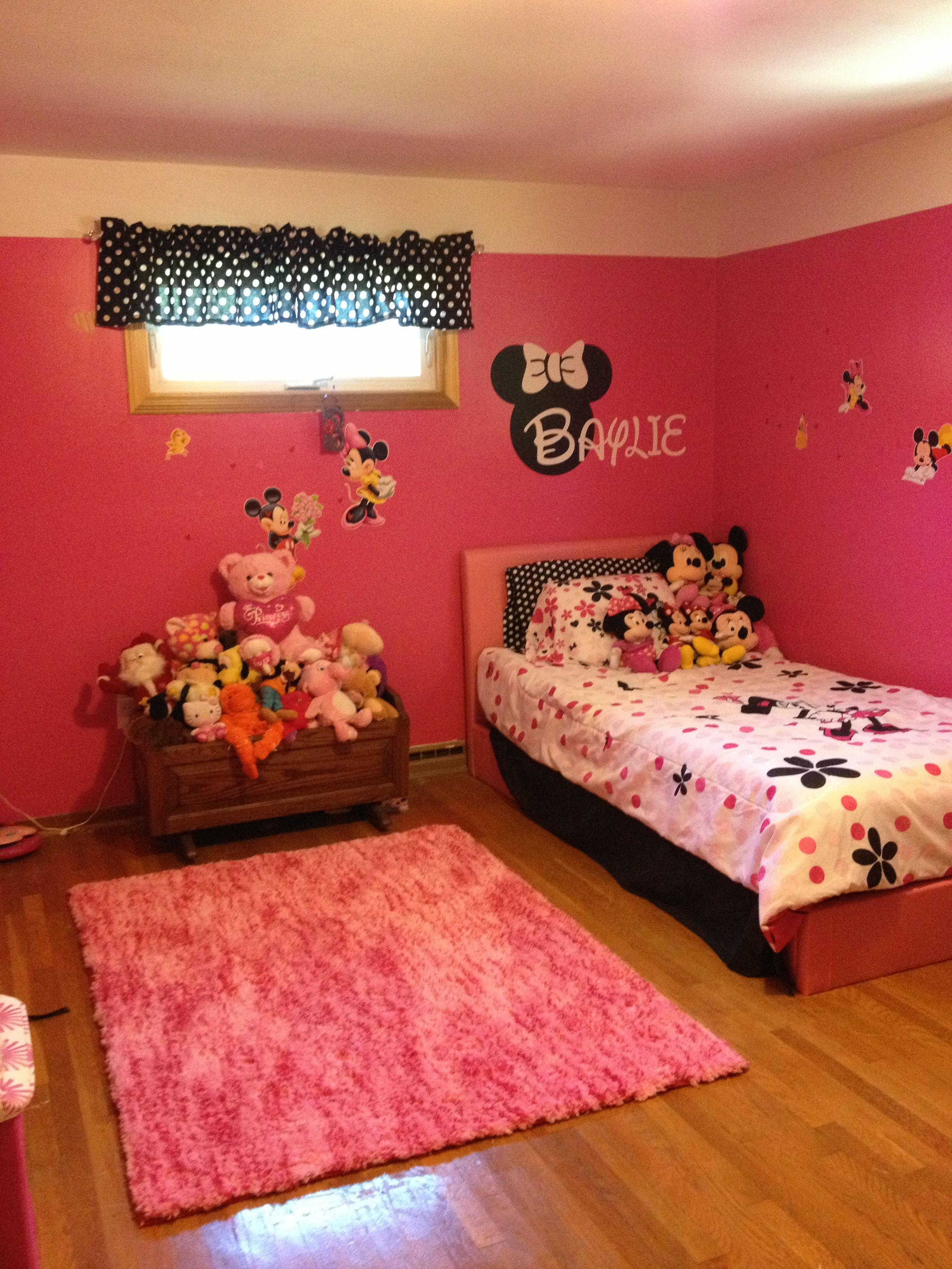 Minnie Mouse Bedroom  Baylies New Room  Minnie mouse
