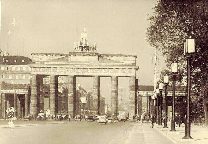 Das Brandenburger Tor Postkarte 1940 Street View Scenes Berlin