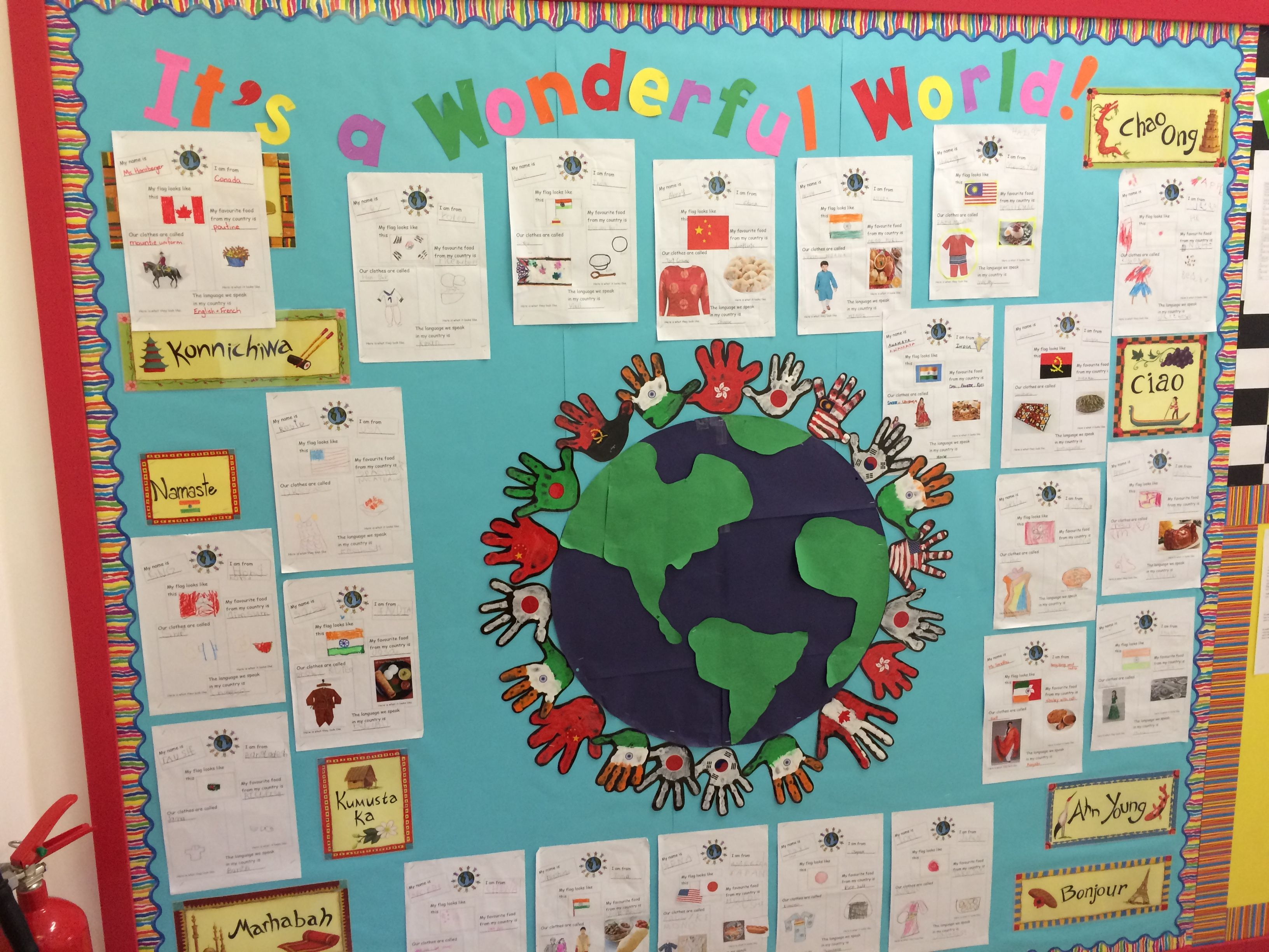 Multicultural Week Each Student Took Home An All About