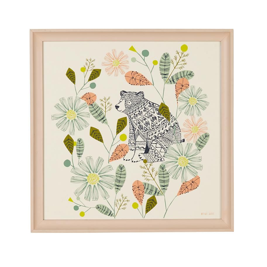 Hiding Bear Wall Art  | The Land of Nod