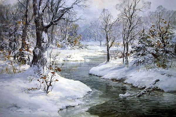 Vickery Painting Breath Of Winter Winter Landscape Painting Winter Landscape Winter Painting
