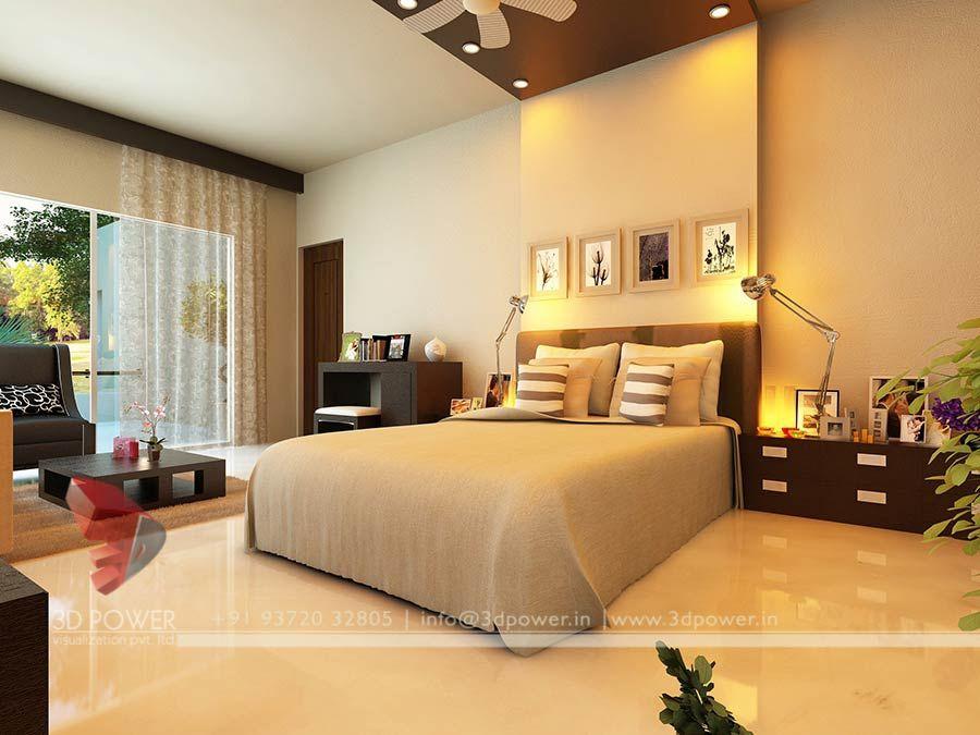 Home Bedroom 3d Interior Rendering Design Rumah