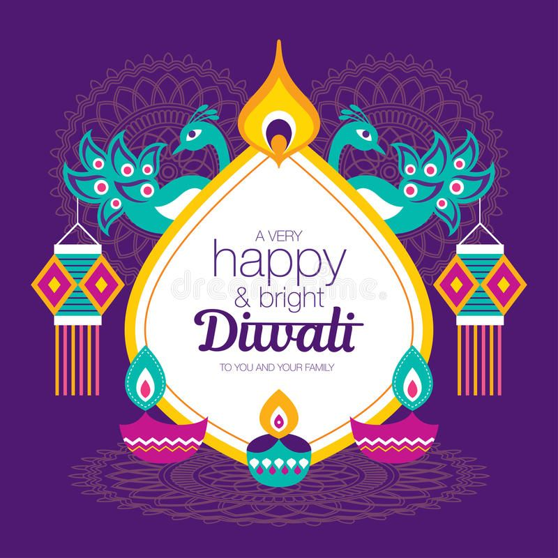Happy Diwali stock vector. Illustration of deepavali - 96590673