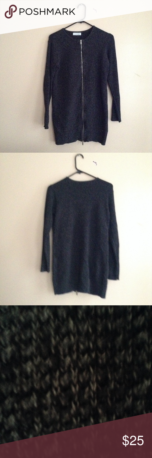 NWOT Calvin Klein Sweater | Long sweaters, Scoop neck and Dark
