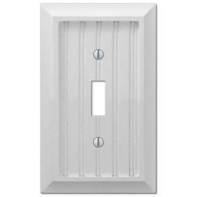 Cottage 1 Toggle Wall Plate White Composite Wood 6 X 2 Bath Hall Plates On Wall Switch Plate Covers Light Switch Plate Cover