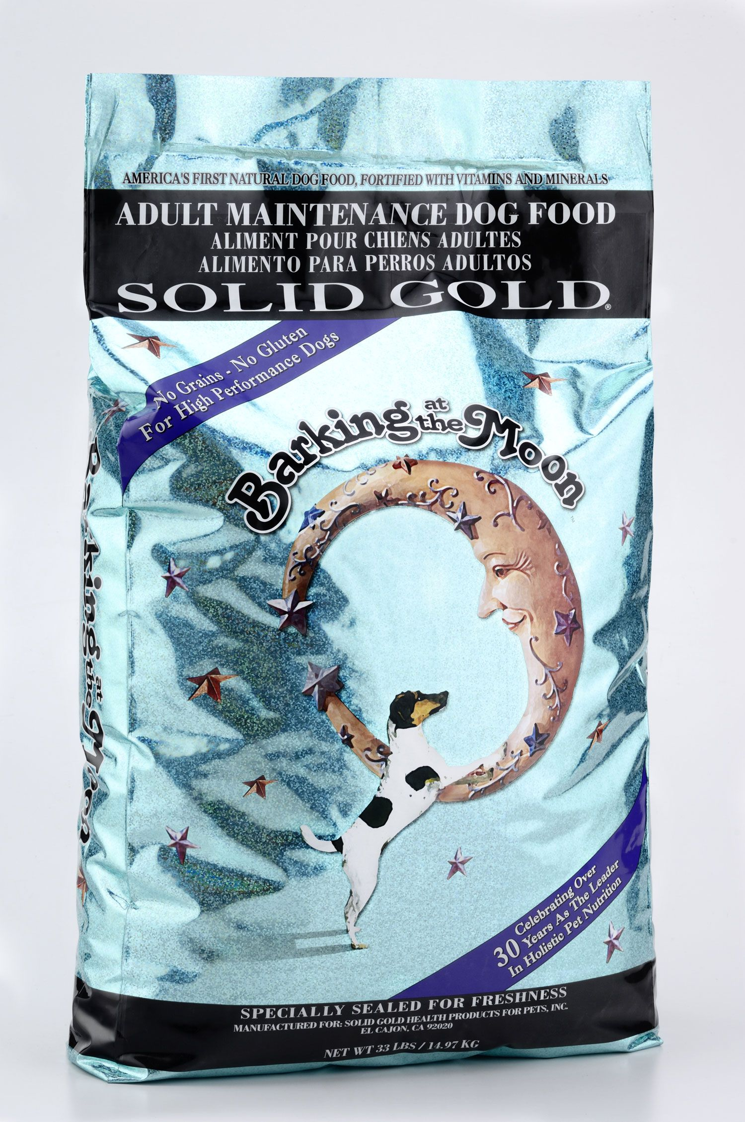 solid gold barking at the moon dog food