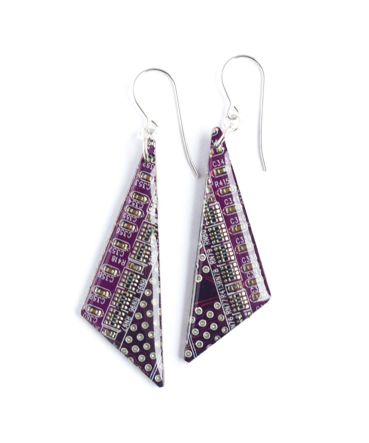 circuit board jewelry jewellery pinterest electricity sitetriangle circuit board earrings test earrings pinterest