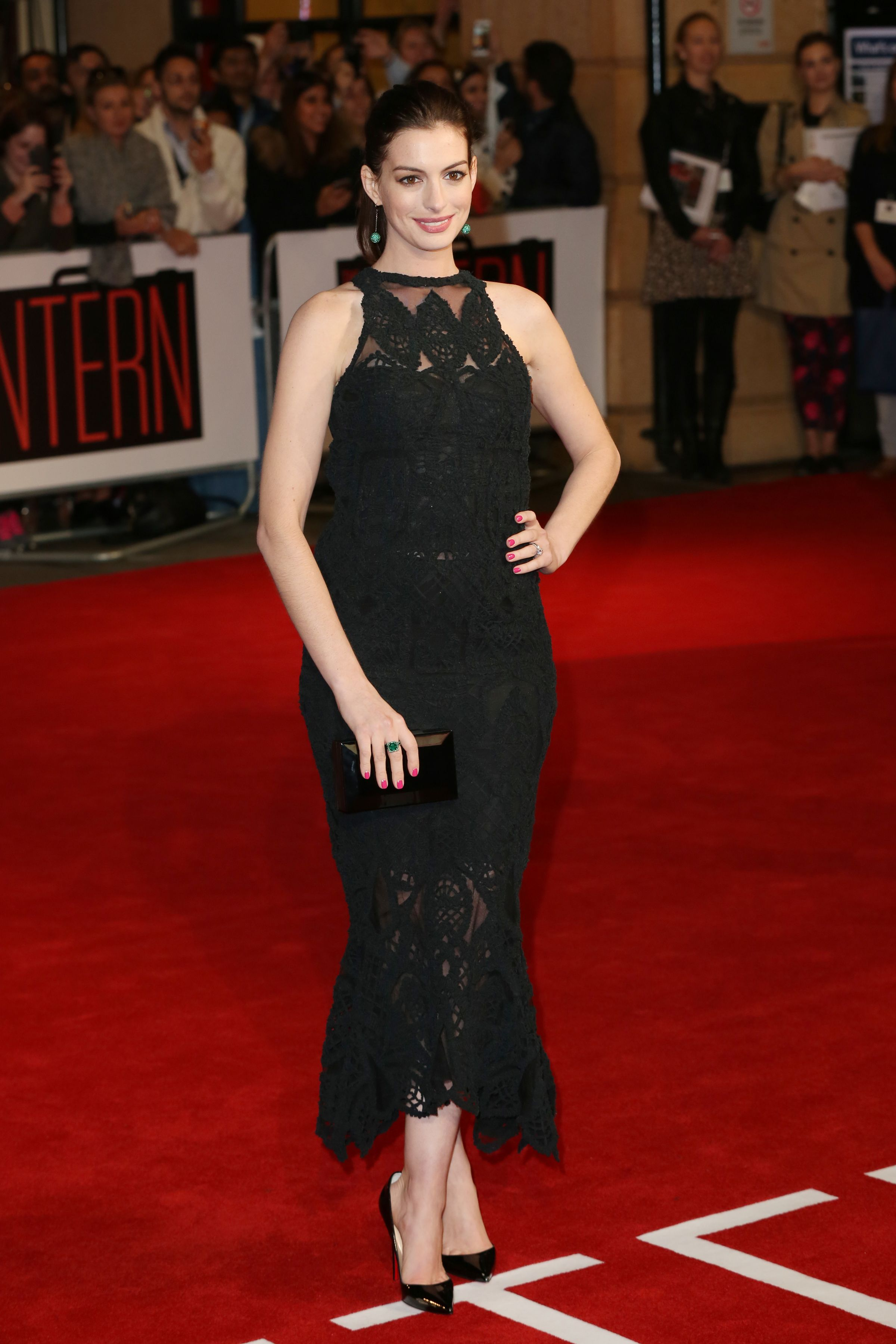 Anne Hathaway attends the UK Premiere of 'The Intern' at Vue West End on September 27, 2015 in London, England.