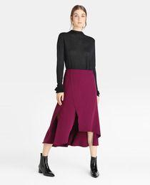 1017942d6 Falda midi de mujer Amitié en color morado   Moda / Outfits / Looks ...