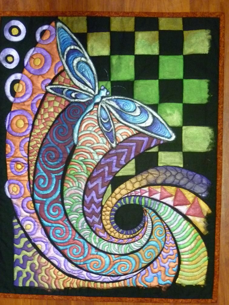 Free Quilt Pattern Flying Into Colors Dragonfly Free