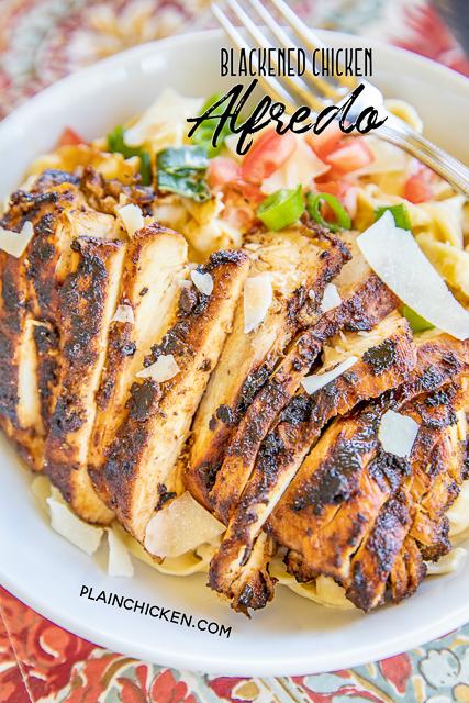 Blackened Chicken Alfredo - Plain Chicken