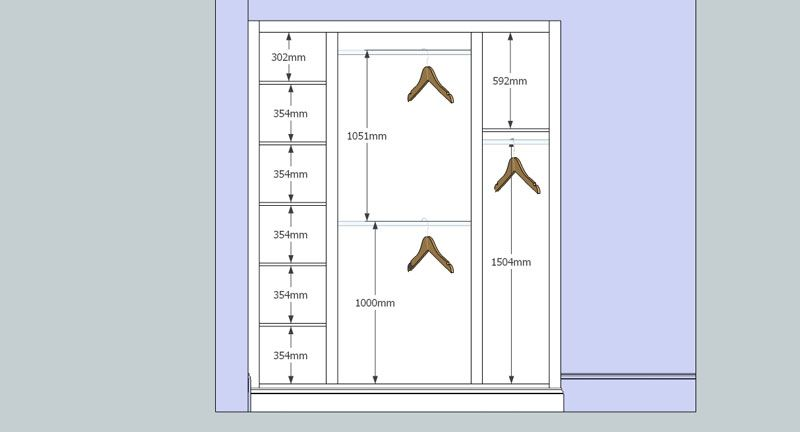 Image result for wardrobe hanger dimension fur for D i y bedroom cupboards