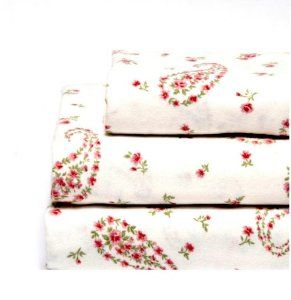 Pretty paisley flannel sheets