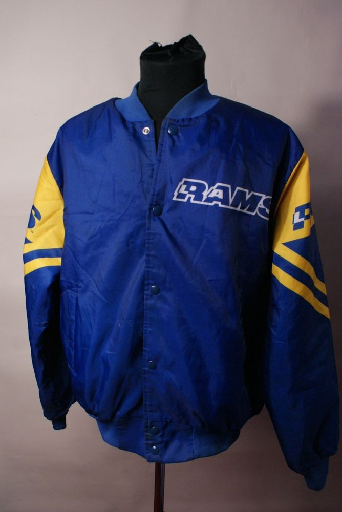 e367a604ea8620 vintage  80s las angeles rams nfl satin jacket chalk line l from  14.99