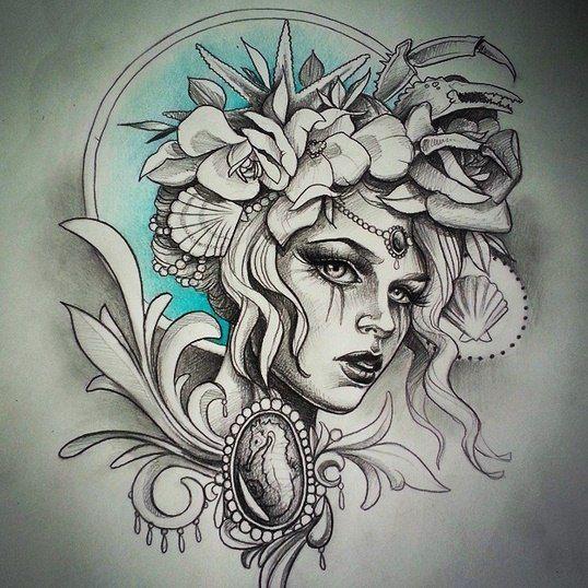 amazing sketch tattoo tattoos motive f r tattoos. Black Bedroom Furniture Sets. Home Design Ideas