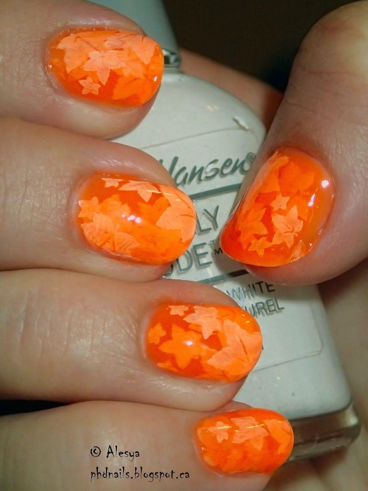 PhD nails: Nail polish: Home made orange jelly (Nail rock + La Senza ...
