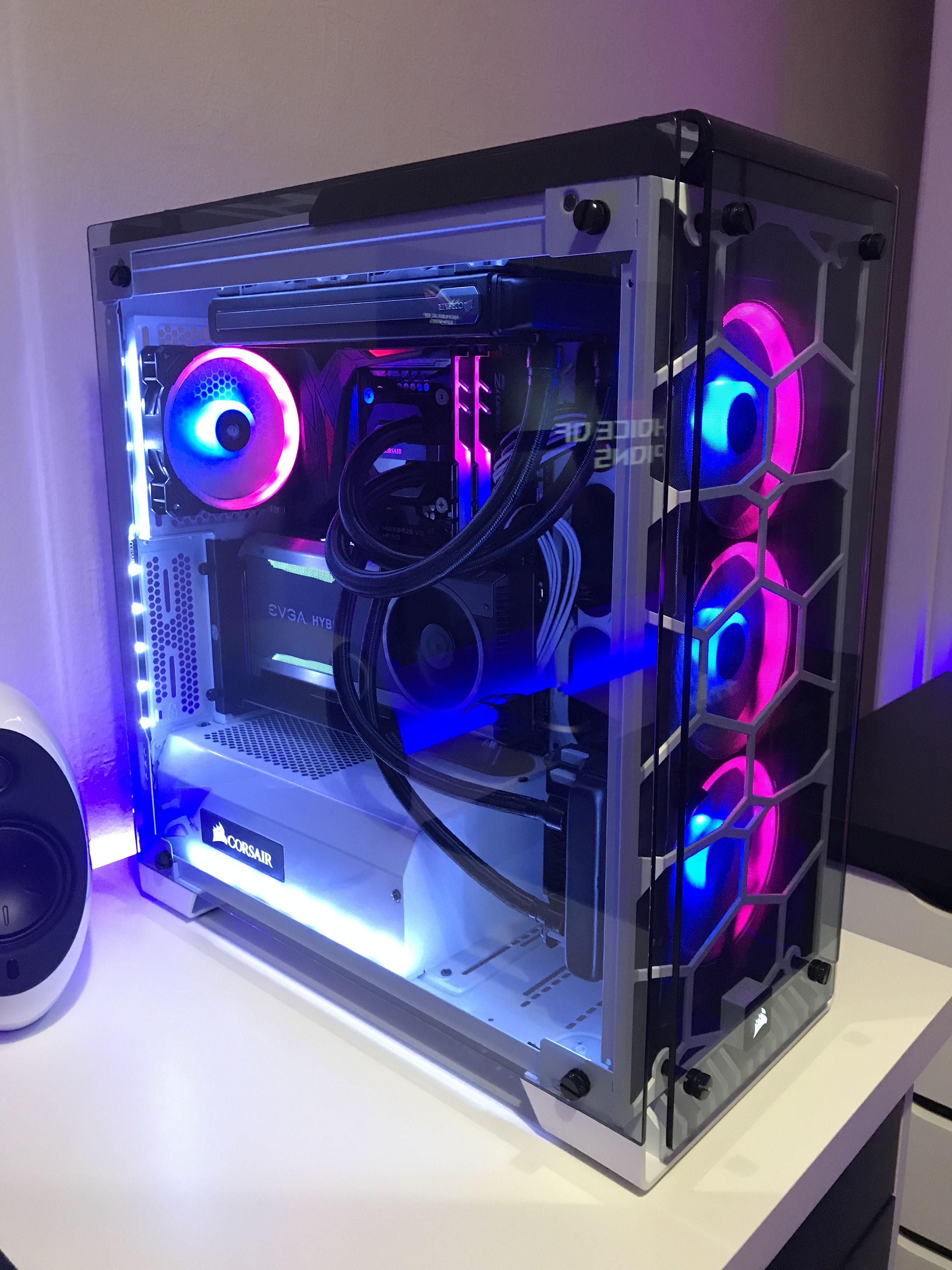 My Corsair 570x Pc Gaming Gaming Computer Setup