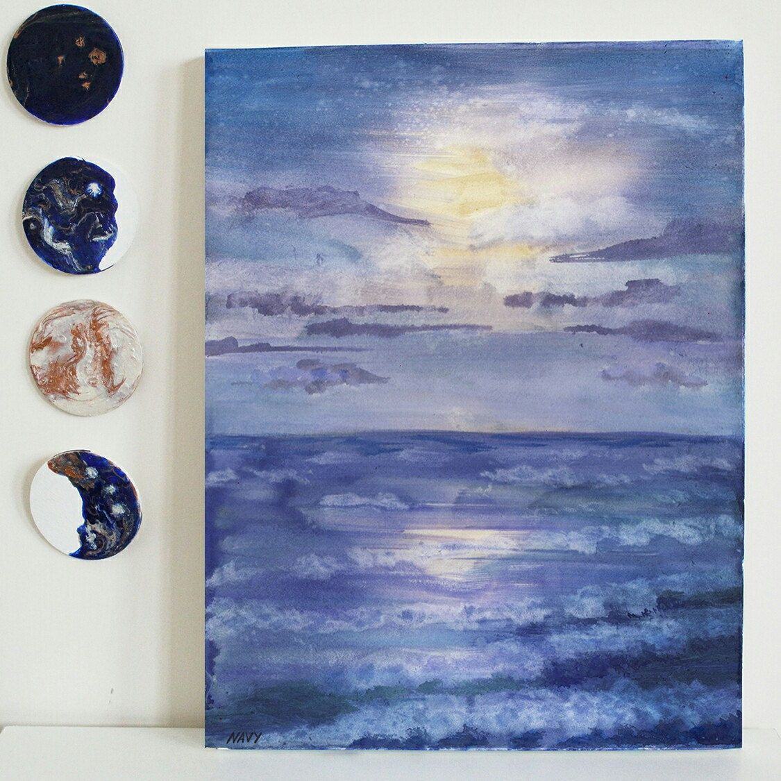 Ocean Wave Painting Original Seascape Painting Ocean Painting
