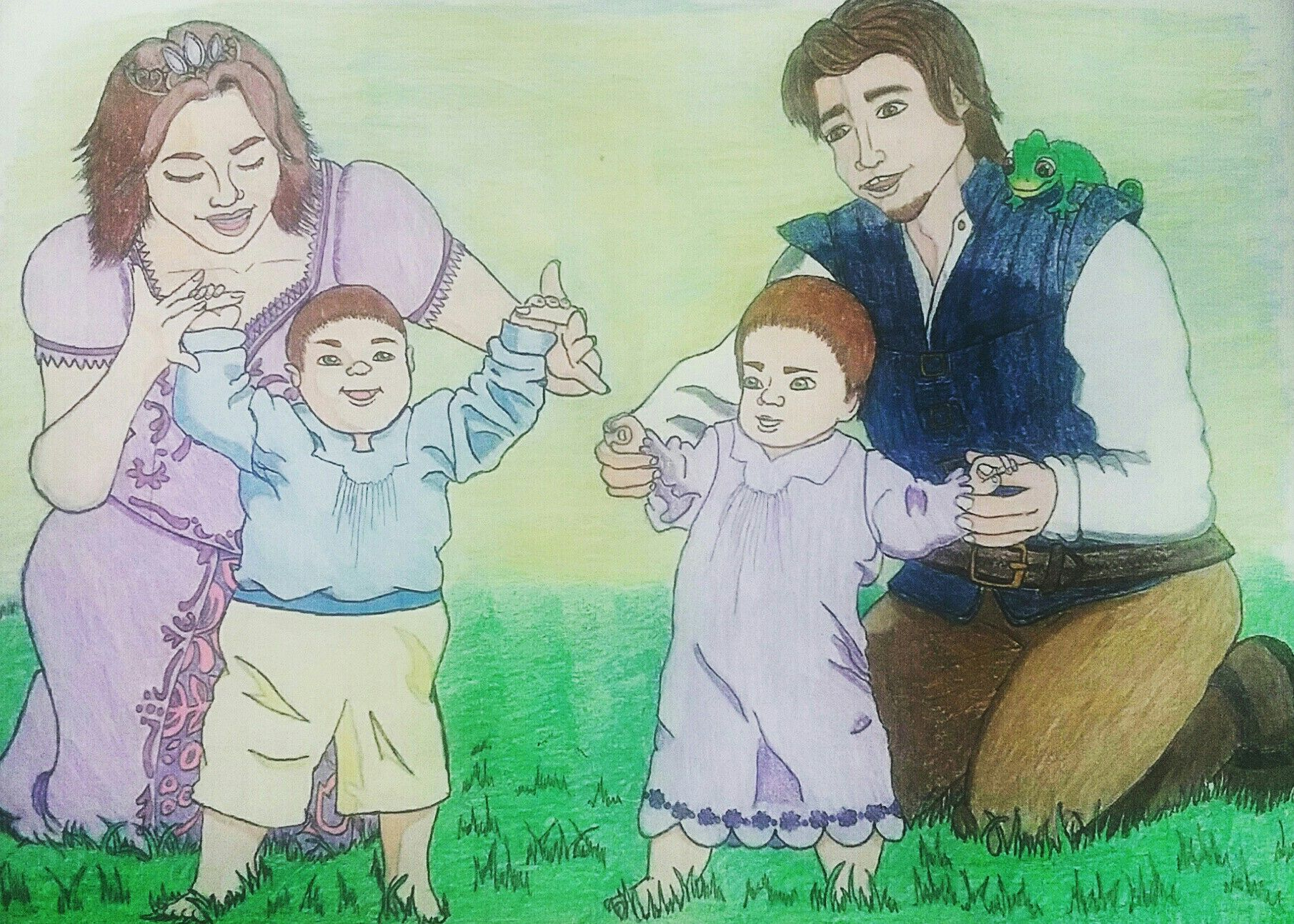 Our Dream   Rapunzel, Eugene, and Their Little Children