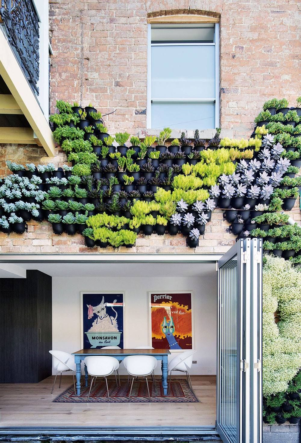 How amazing are these vertical gardens for efficient use of greenery