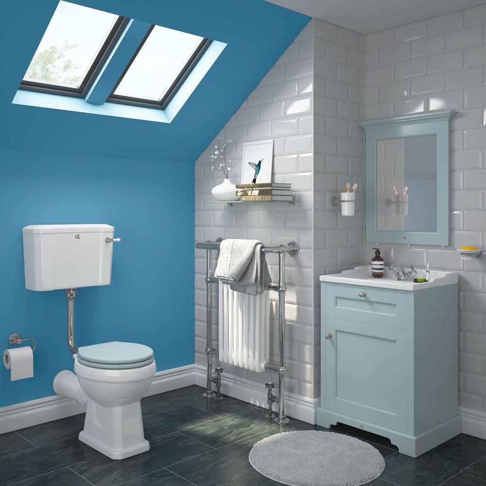 This beautiful Victorian bathroom design couples white metro tiles ...
