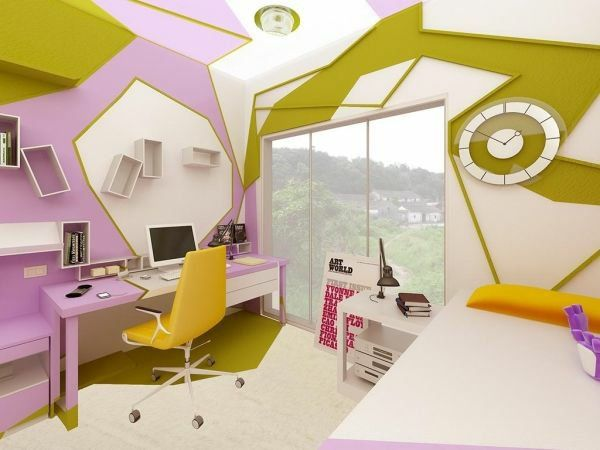 Jugendzimmer Design Ideen Extravaganter Look Abstrakte Formen